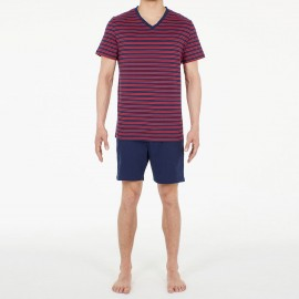 Pyjama Short 100% Coton, Marins, Hom 401416-00RA