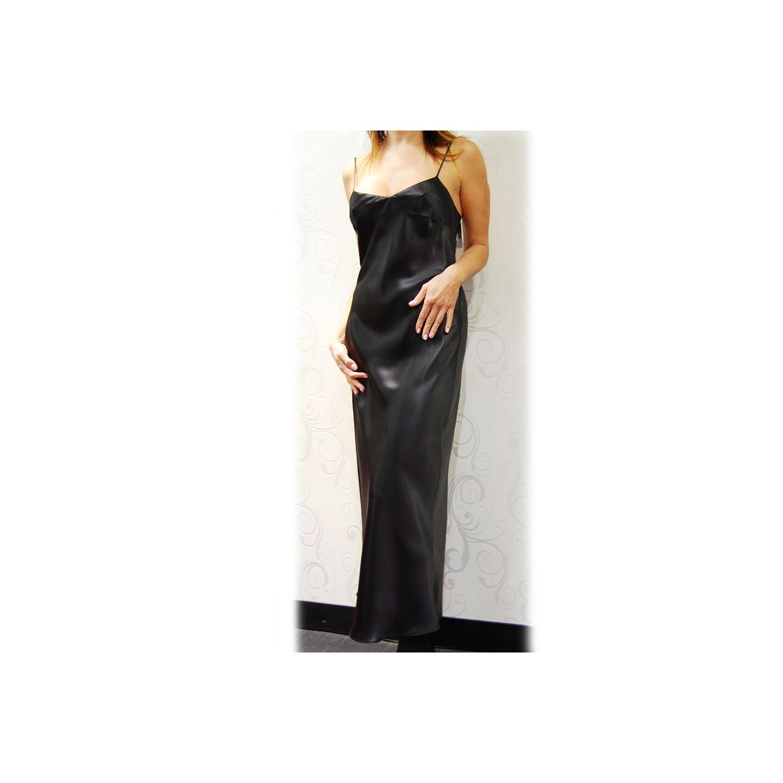 chemise de nuit longue 100 soie odana marjolaine odana caroline lingerie loungewear. Black Bedroom Furniture Sets. Home Design Ideas