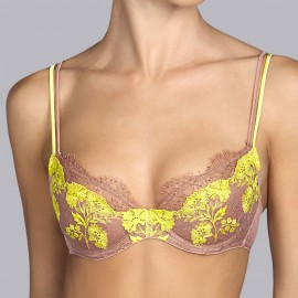 Push-up Bra, Georgette Milk Caramel, Andrès Sarda 3308417-MCA
