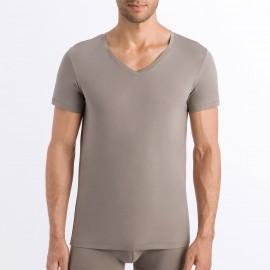 Tee-Shirt Col V Manches Courtes, Cotton Superior, Hanro 073089-1895