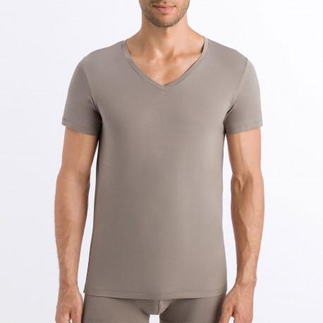 Tee-Shirt V Neck Short Sleeves, Cotton Superior, Hanro 073089-1895