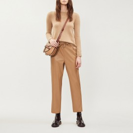Leather-Style Pants, Glasgow Camel, Max Mara GLASGOW-001
