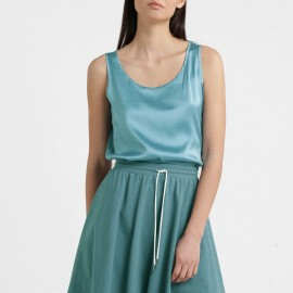 Silked Sleeveless Top, Pan Aqua, Max Mara PAN-007