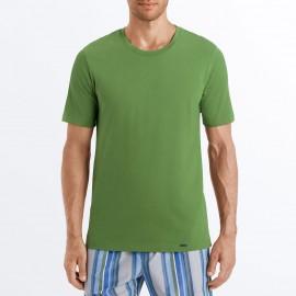 Tee-Shirt Col Rond Manches Courtes 100% Coton, Living Shirt, Hanro 075050-1742