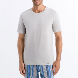 Round Neck Short-Sleeved T-shirt 100% Cotton, Living Shirt, Hanro 075050-1680