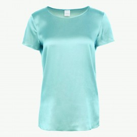 Short Sleeves Top In Silk, Cortona Aqua, Max Mara CORTONA-007
