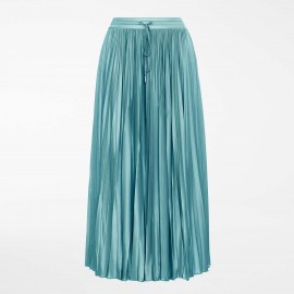 Pleated Skirt in Silk, Soledad Aqua, Max Mara SOLEDAD-004