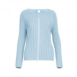 Knitted Cardigan Jacket with a Zip, Harald Light Blue, Max Mara HARALD-004