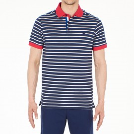 Short Sleeves Polo Shirt, Antoine, Hom 401421-PN07
