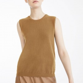 Knitted Sleeveless Sweater, Dina Chocolate, Max Mara DINA-007