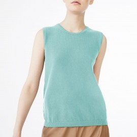 Knitted Sleeveless Sweater, Dina Aqua, Max Mara DINA-003