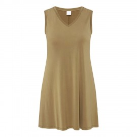 Knitted Sleeveless Tee-Shirt, Brava Khaki, Max Mara BRAVA-002