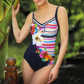 1 Piece Swimsuit, Flowers et Stripes, Sunflair 2225319
