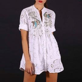Shirt Dress, 100% Cotton, Antica Sartoria 2019S022
