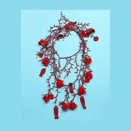 Necklace, 100% Nylon, Antica Sartoria 2019D2011-ROUGE