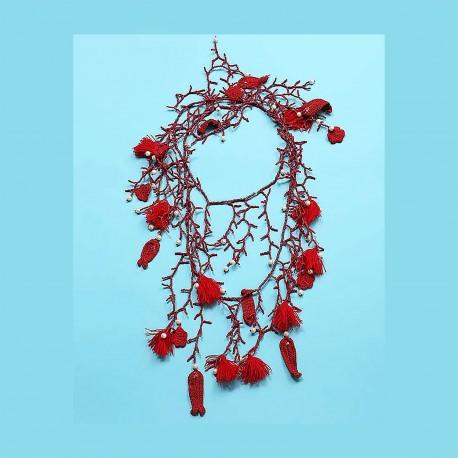 Necklace, 100% Nylon, Antica Sartoria 2019D2011-ROUGE