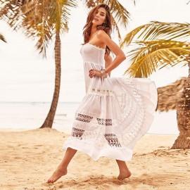 Strapless Dress, 100% Cotton, Iconique IC9081-001
