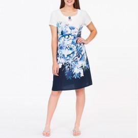 Short Sleeves Dress Flowers, Egatex 191507