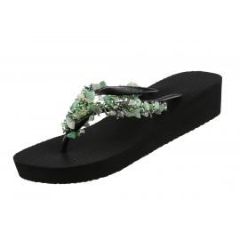 Sandals Flip Flops Heels Medium, Fabulous Jade Mid Heel, Uzurii JADEFAB_MH_BLACK