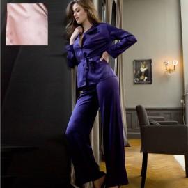 Pyjama Manches Longues & Pantalon en Soie, Soie Unique, Marjolaine 3SOI5533-0003