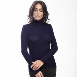 Long Sleeve Turtleneck, 70% Wool 30% Silk, Oscalito 9516-474