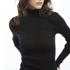 Long Sleeve Turtleneck, 70% Wool 30% Silk, Oscalito 9516-020
