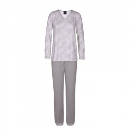 Long sleeve pajamas, Fjord Ecru/Gris, Le Chat FJORD702-4101
