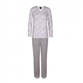 Long sleeve pajamas, Fjord Ecru/Gris, Le Chat FJORD702-4101
