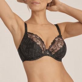 Deep cup bra with deep neckline E to G, Wild Flower, Prima Donna 0163135-NGR
