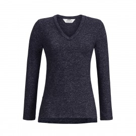 Heather V-Neck Sweater, Solo Per Me 9538410C-260