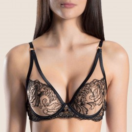 Bra Plunge Scarf Cup A to E, Baisers Charnels, Aubade OI81-CACH