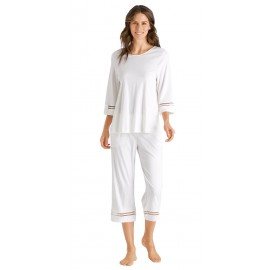 3/4 Sleeve Pajamas and Pants, Ilona, Hanro, 076591-0102