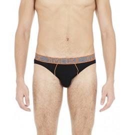 Slip Micro Noir Passepoils Orange, BodyFit, Hom 401563-0004