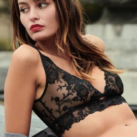 Underwired triangle bra, Nuit Indécente, Aubade OE10-B