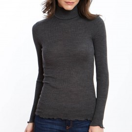 Long Sleeve Turtleneck, 70% Wool 30% Silk, Oscalito 9516-254