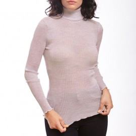 Long Sleeve Turtleneck, 100% Silk, Oscalito 9516-350