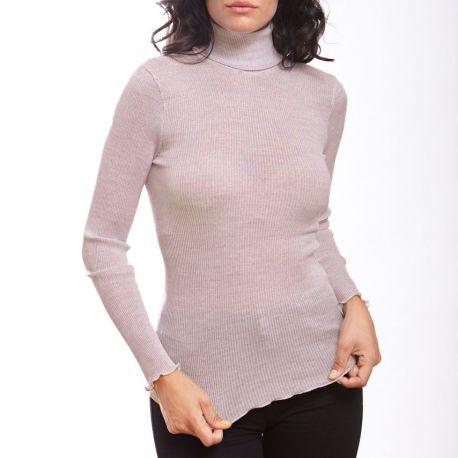 Long Sleeve Turtleneck, 70% Wool 30% Silk, Oscalito 9516-350