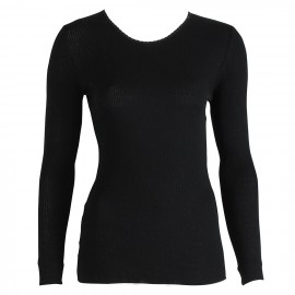 Top Long Sleeves Pleated Crew Neck 70% Wool-30% Silk, Oscalito 9515-020