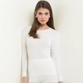 Top Long Sleeves Pleated Crew Neck 70% Wool-30% Silk, Oscalito 9515-350