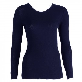 Top Long Sleeves Pleated Crew Neck 70% Wool-30% Silk, Oscalito 9515-474