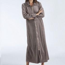 Robe d'Interieure Longue 130cm Velours Zippée, Navona, Taubert 192891-314-8652
