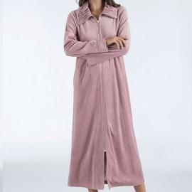 Robe d'Interieure Longue 130cm Velours Zippée, Navona, Taubert 192891-314-5722