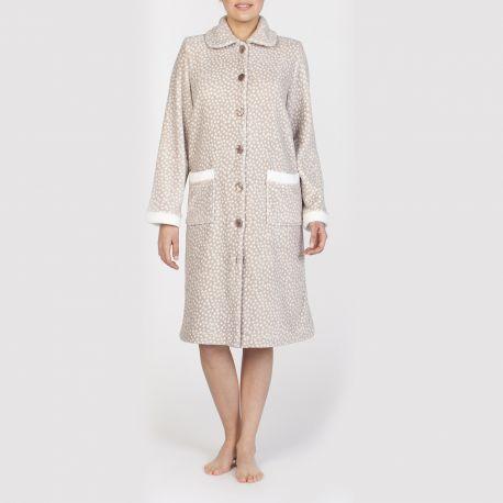 Robe Polaire Boutonnée Manches Longues, Egatex 192531-13