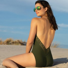 Plunging Back Halter Swimsuit, Ajourage Couture, Lise Charmel ABA9815-EA