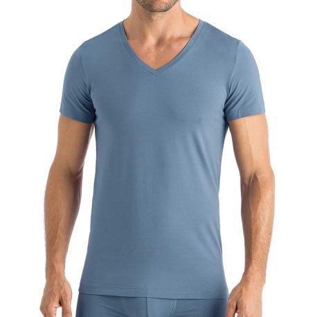 Tee-Shirt Col V Manches Courtes, Cotton Superior Ca, Hanro 073089-1554