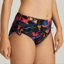 Maillot de Bain Bikini Slip Taille Haute, Oasis - Black Cactus, Prima Donna 4007052-BCT