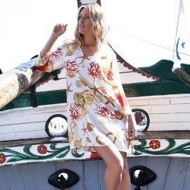 Robe Courte Manches Longues, Chiara Fiorini CF0745-BL