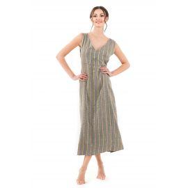 Robe Longue Manches Longues, Fifi 100% Coton, David DB20-018-KHA