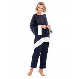 Pantalon, Flora 100% Coton, Iconique IC20-050-BLU