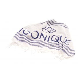 Fouta, Drap de Bain, Iconique IC20-OMT-NBLU